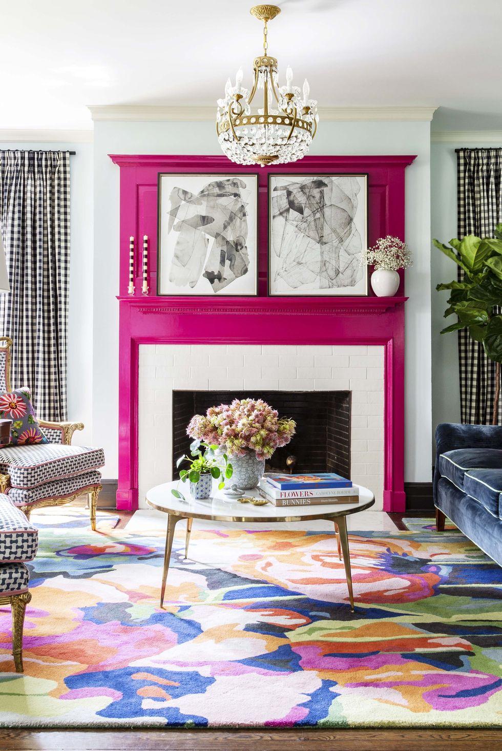 Màu sắc vui tươi cho phòng khách