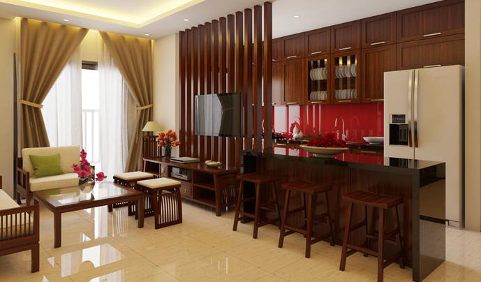 Nội thất phòng khách đẹp bằng gỗ 12