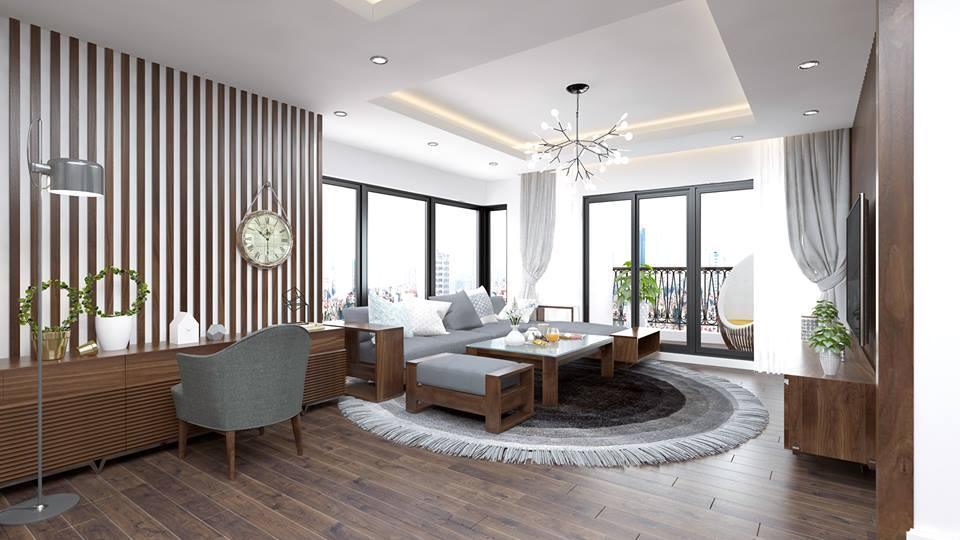 Nội thất phòng khách đẹp bằng gỗ 3