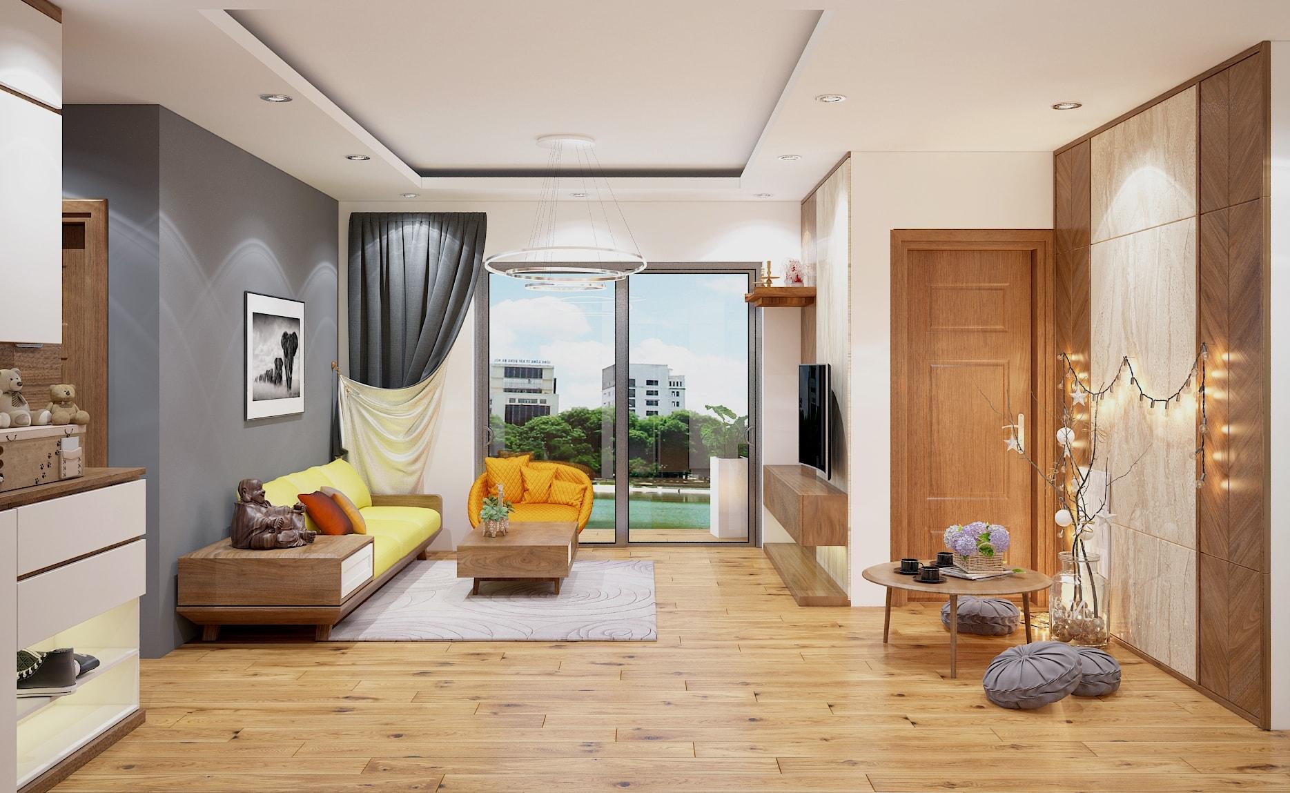 Nội thất phòng khách đẹp bằng gỗ 7