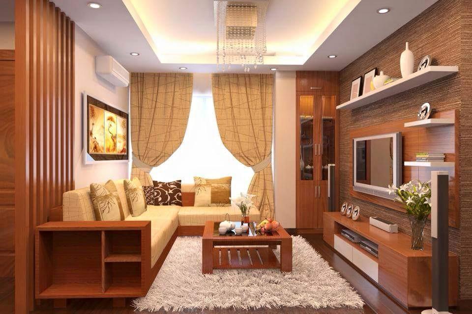 Nội thất phòng khách đẹp bằng gỗ 8
