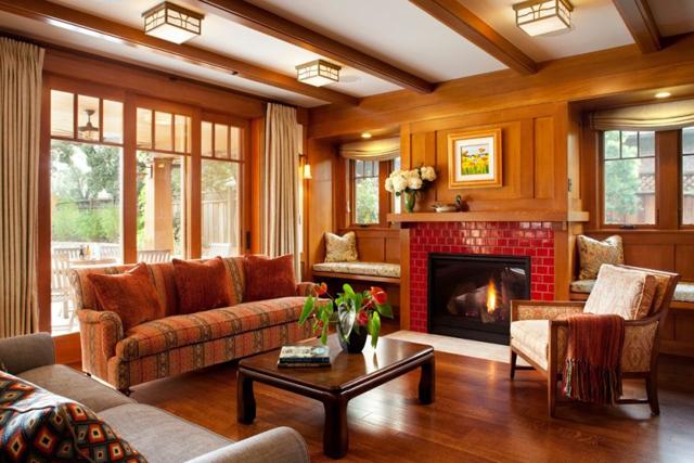 Nội thất phòng khách đẹp bằng gỗ 9