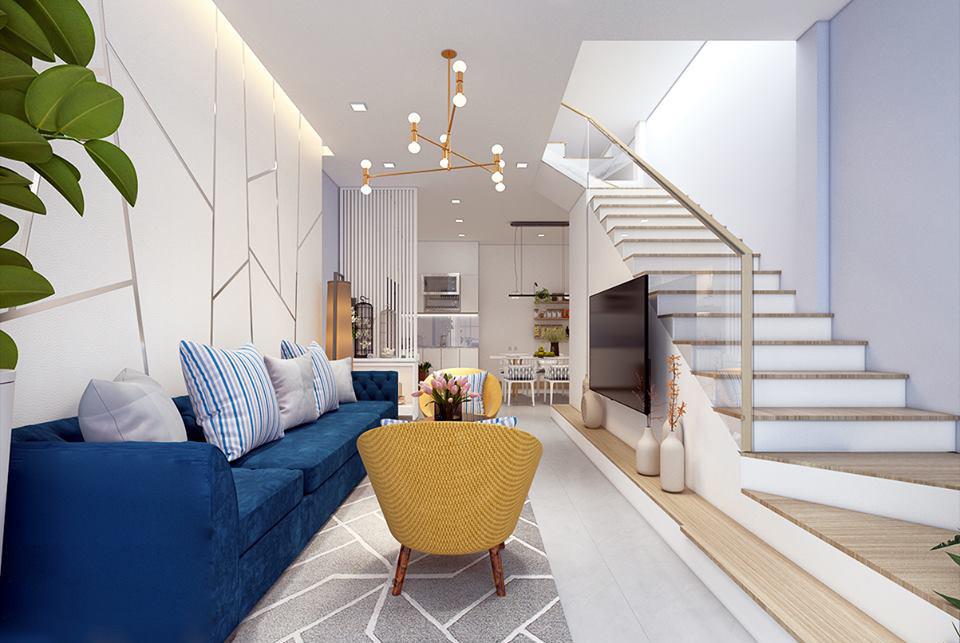 Nội thất phòng khách đẹp có cầu thang 9