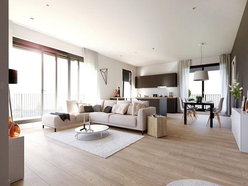 Nội thất phòng khách chung cư đơn giản 1