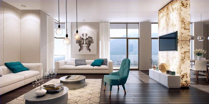 Nội thất phòng khách chung cư hiện đại 10