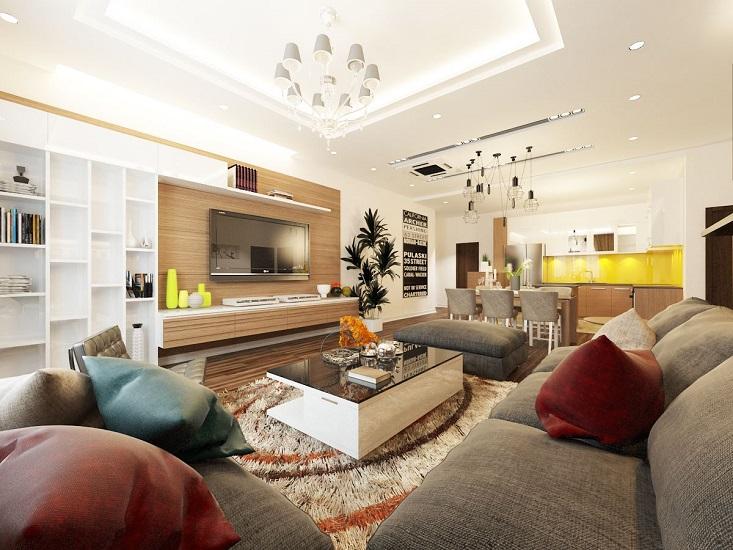 Nội thất phòng khách chung cư hiện đại 2