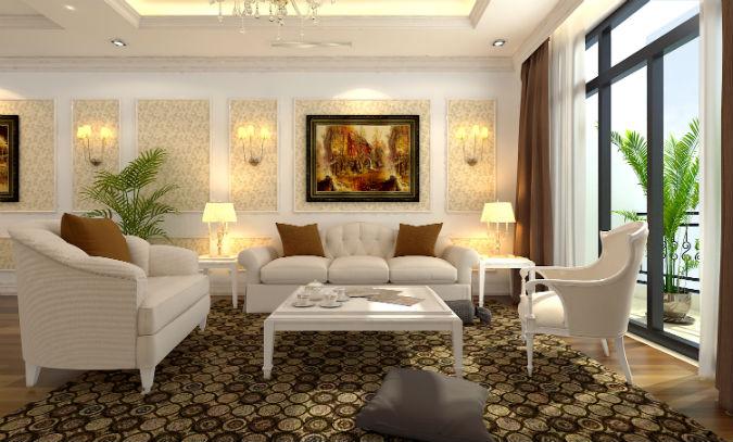 Nội thất phòng khách chung cư hiện đại 7