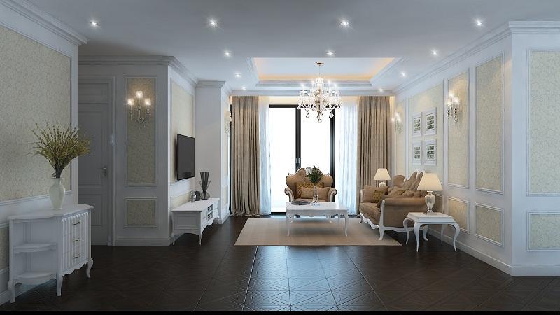Nội thất phòng khách chung cư hiện đại 9