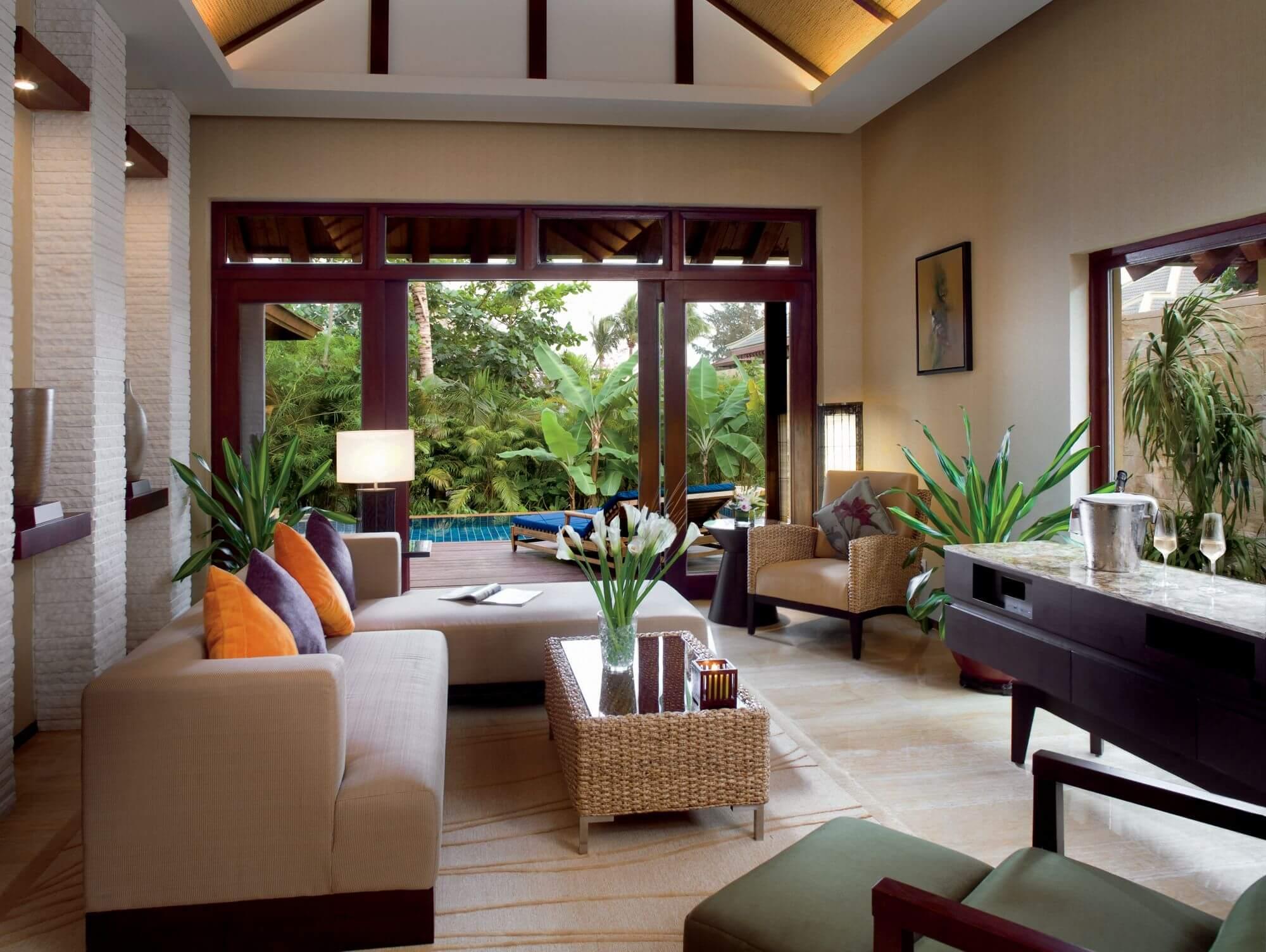 Phòng khách biệt thự nhà vườn đẹp
