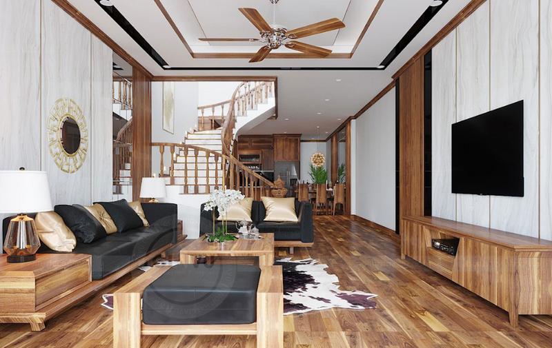 Phòng khách nhà ống 4m 5