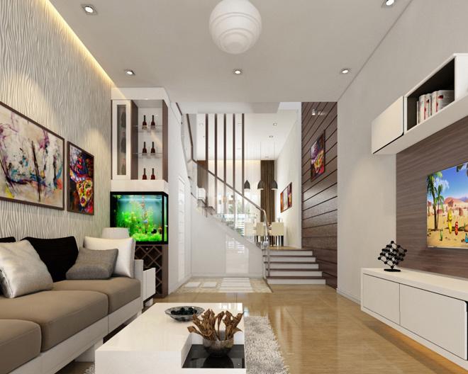 Phòng khách nhà ống 4m 6