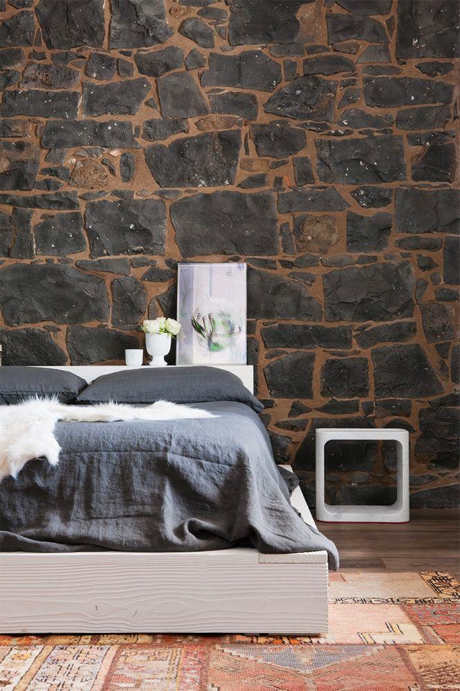 Phòng ngủ kết hợp phần thô của ngôi nhà
