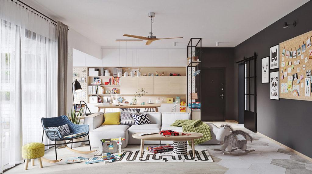 Sắp xếp đồ đạc trong thiết kế nội thất
