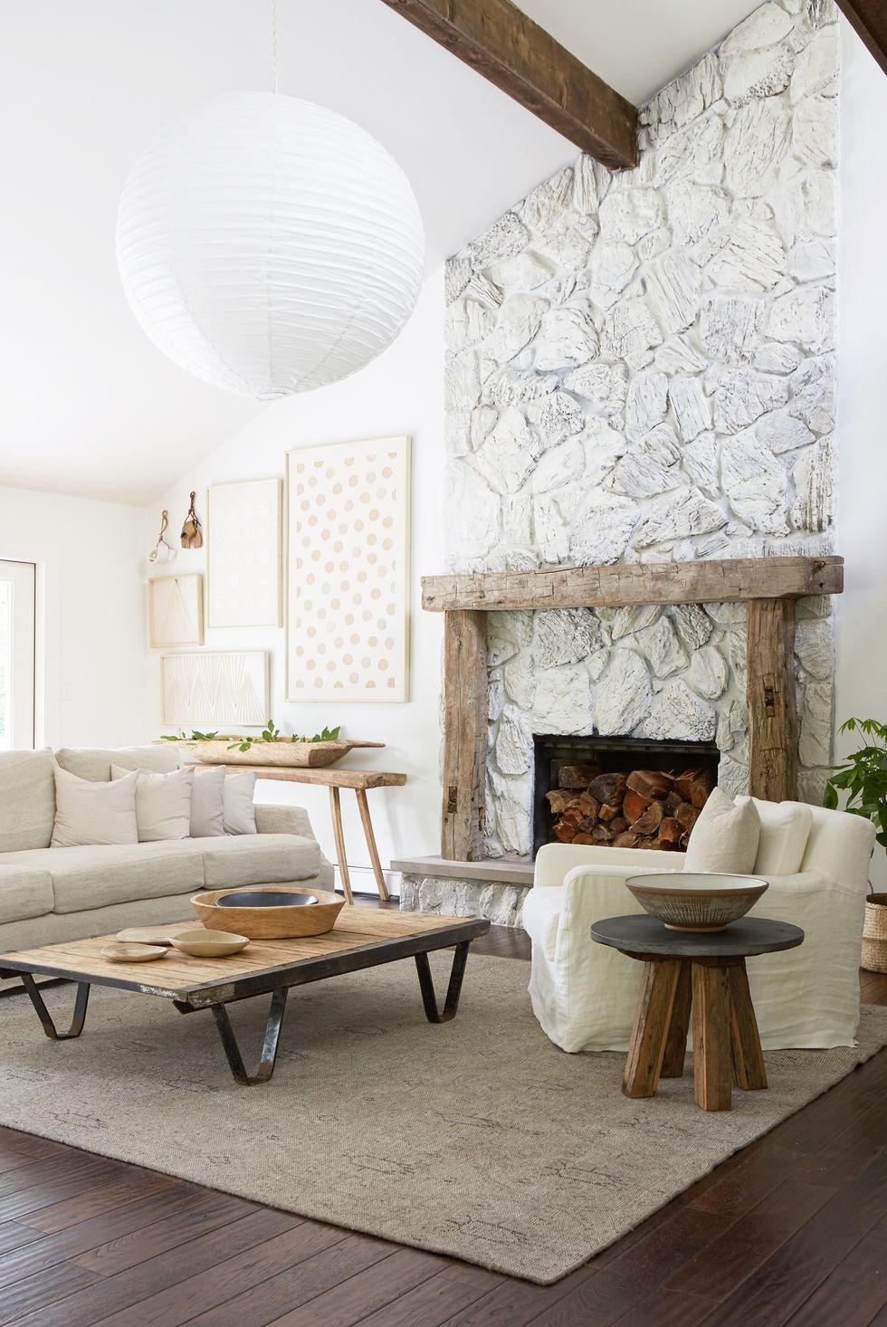 Thêm nét trang trí mộc mạc cho phòng khách