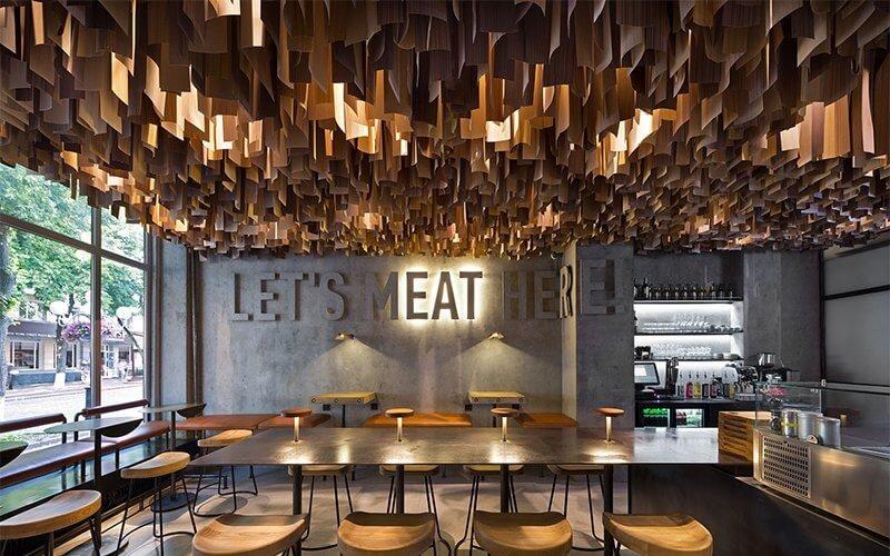 Thiết kế ánh sáng quán cafe