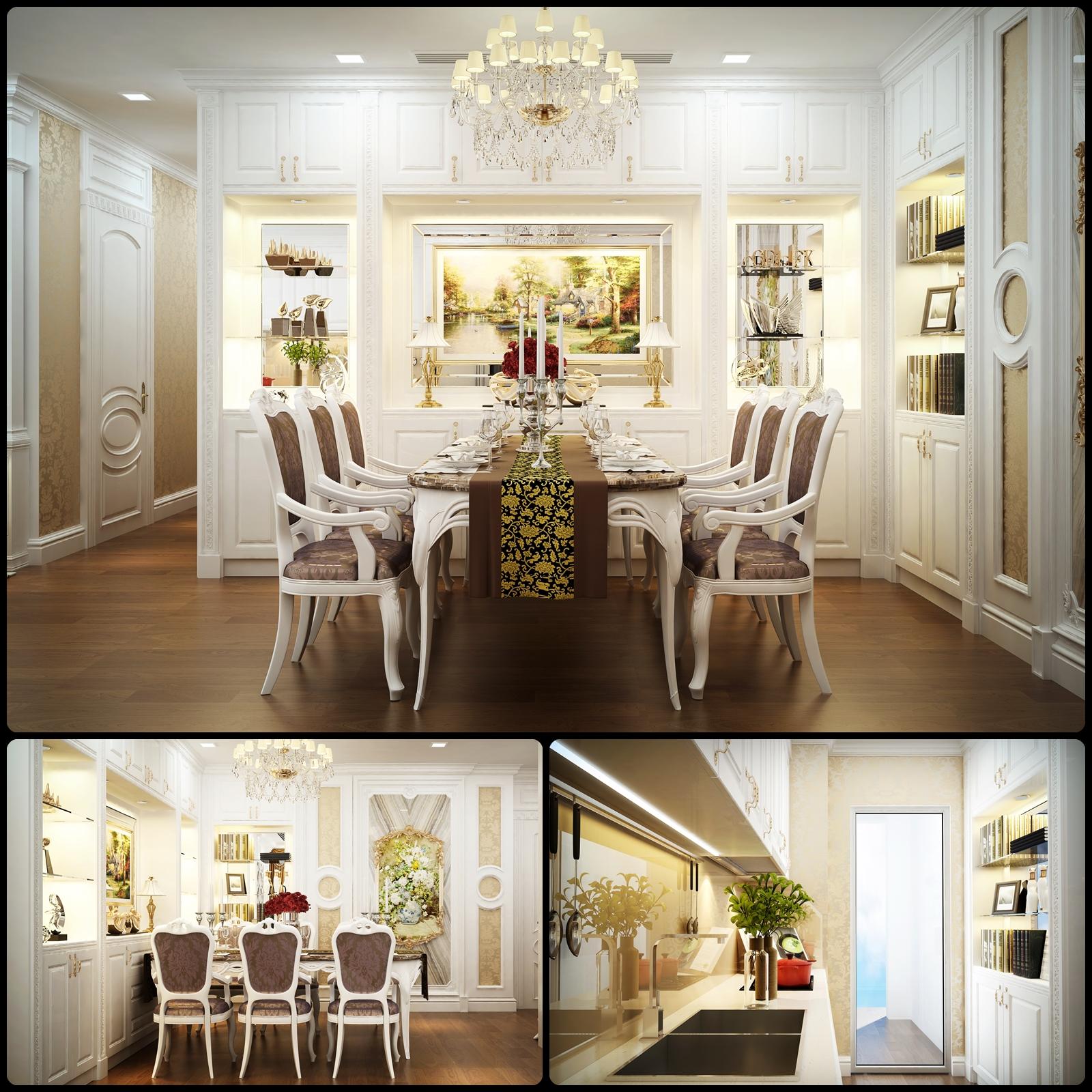Thiết kế nội thất nhà phố cổ điển 1