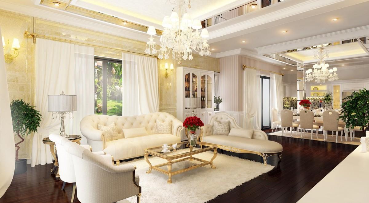 Thiết kế nội thất nhà phố cổ điển 4