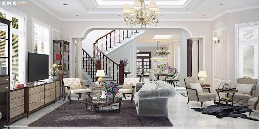 Thiết kế nội thất nhà phố cổ điển