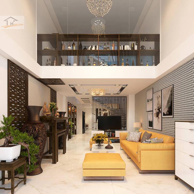 Thiết kế nội thất nhà phố hiện đại 10
