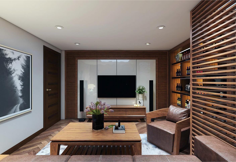 Thiết kế phòng khách tối giản