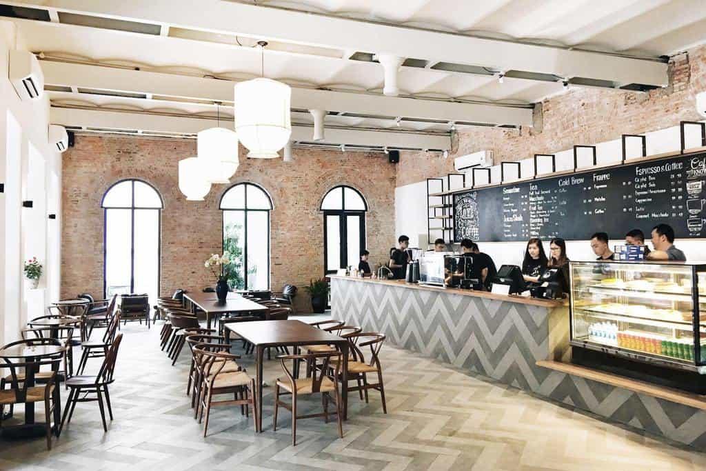 Trang trí nội thất quán cafe hiện đại
