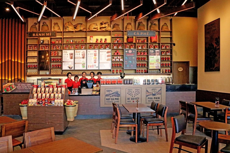 Trang trí nội thất quán cafe hiện đại 1