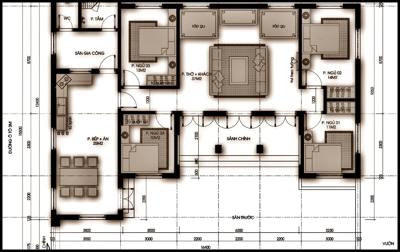 Bản thiết kế nội thất