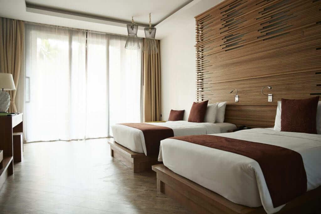 Ánh sáng phòng ngủ khách sạn