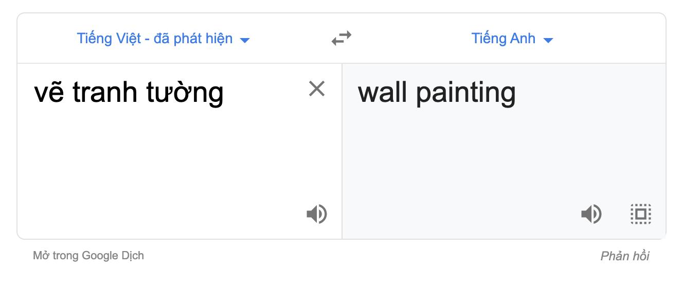 Vẽ tranh tườngtiếng anh là gì