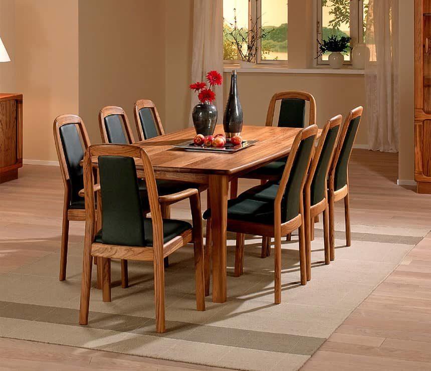 Bộ bàn ghế ăn gỗ óc chó đẹp