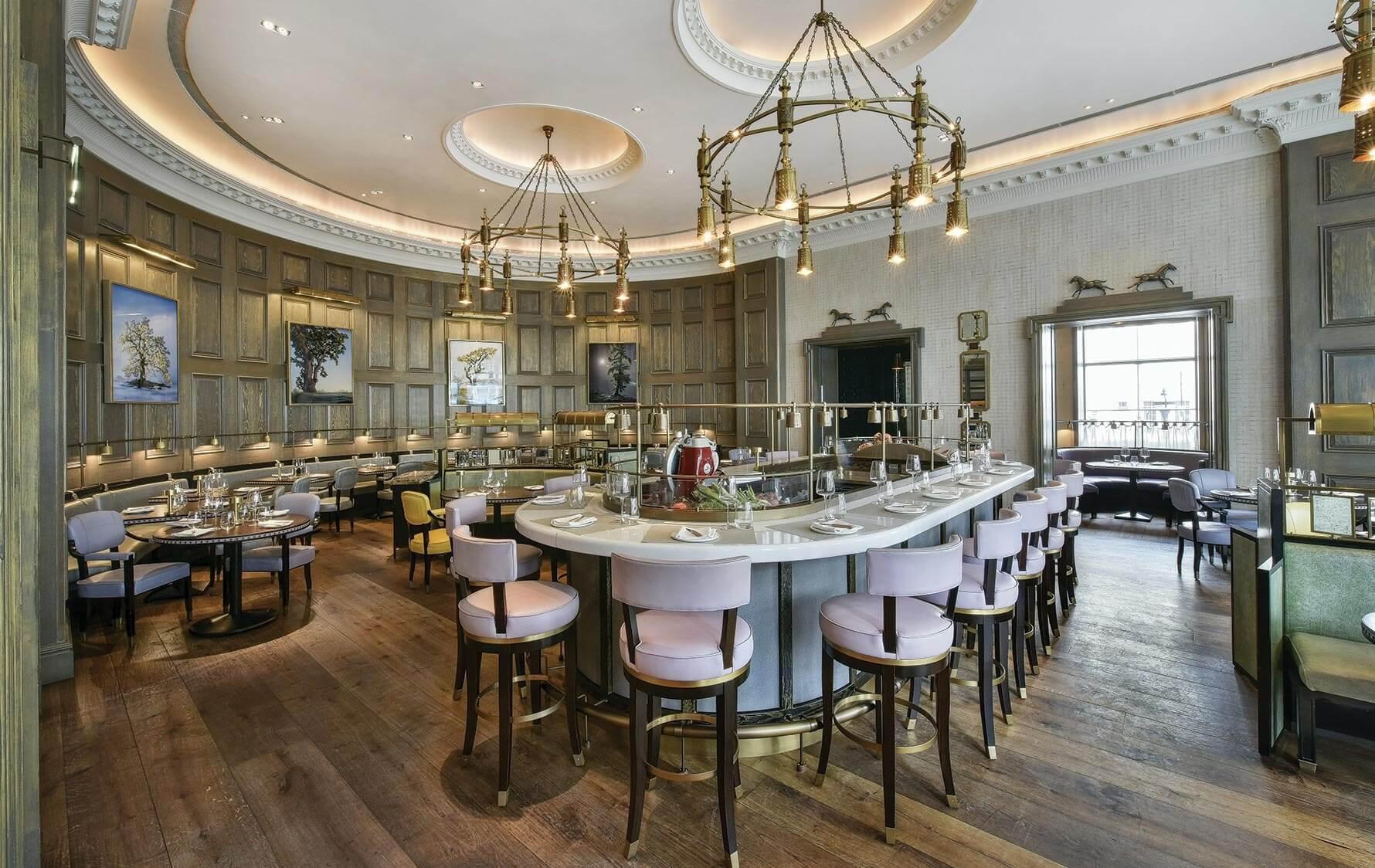 Không gian nội thất nhà hàng