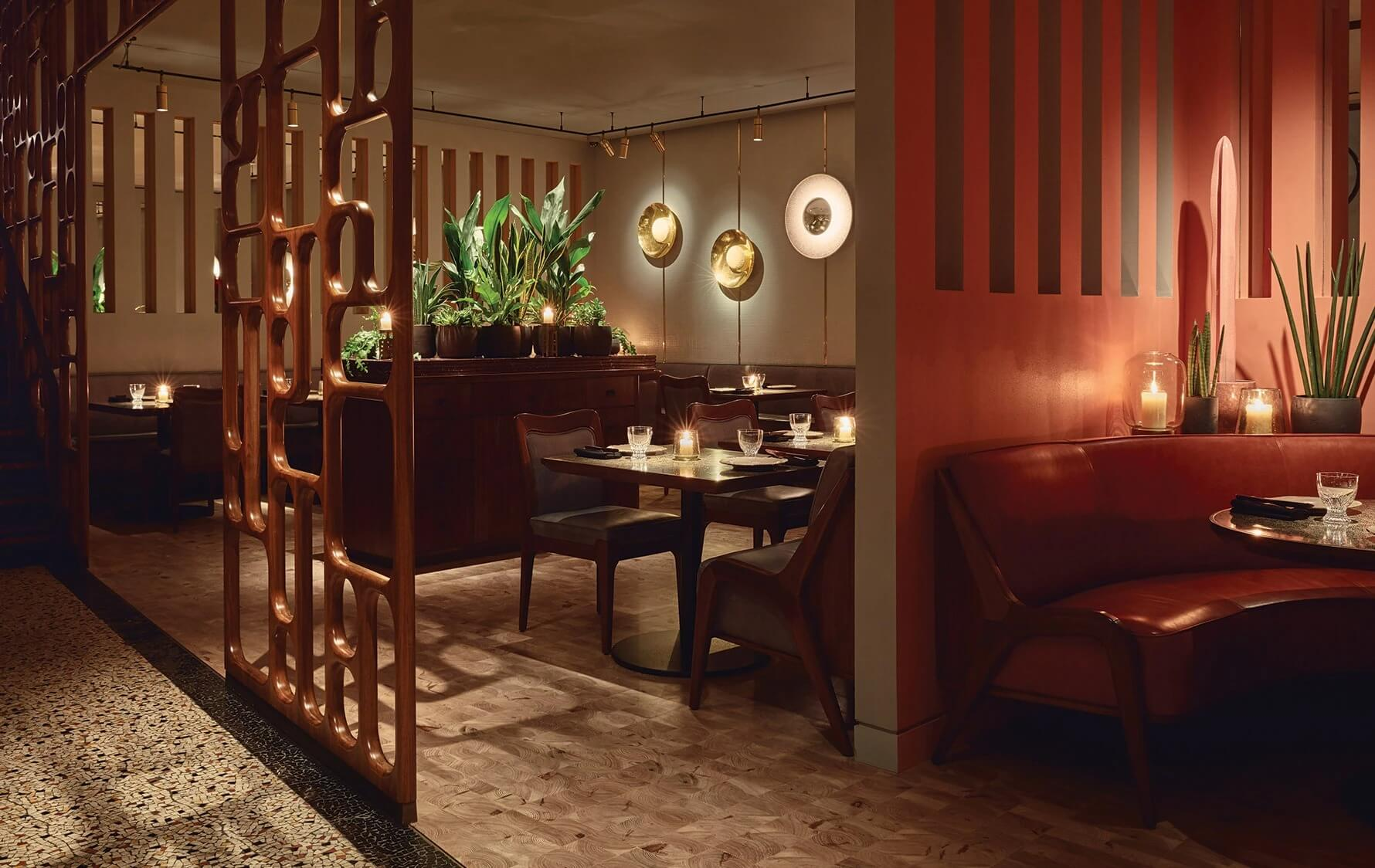 Phân chia không gian nhà hàng