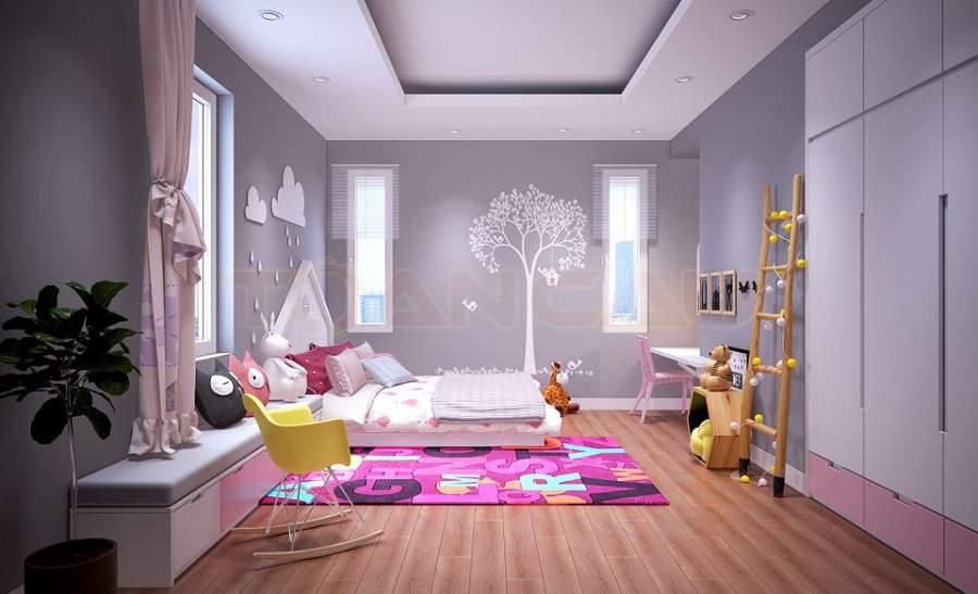 Phòng ngủ chung cư cho trẻ 1