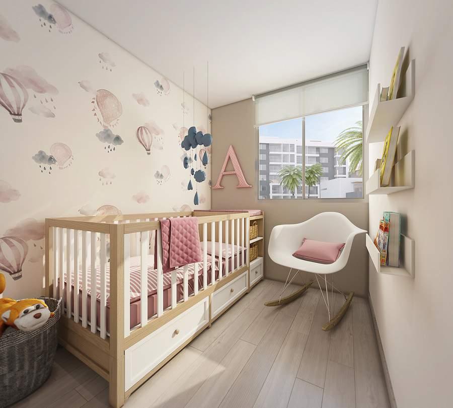 Phòng ngủ chung cư cho trẻ sơ sinh