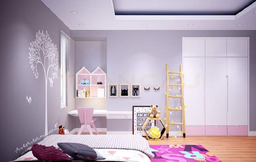 Phòng ngủ chung cư cho trẻ