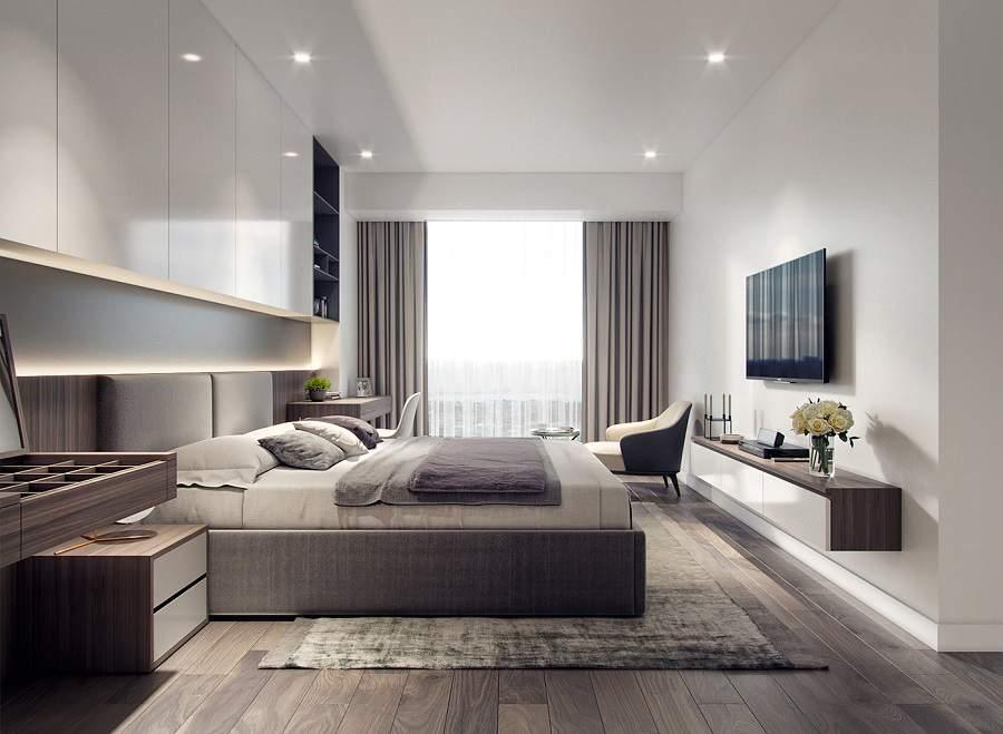 Phòng ngủ chung cư hiện đại 1