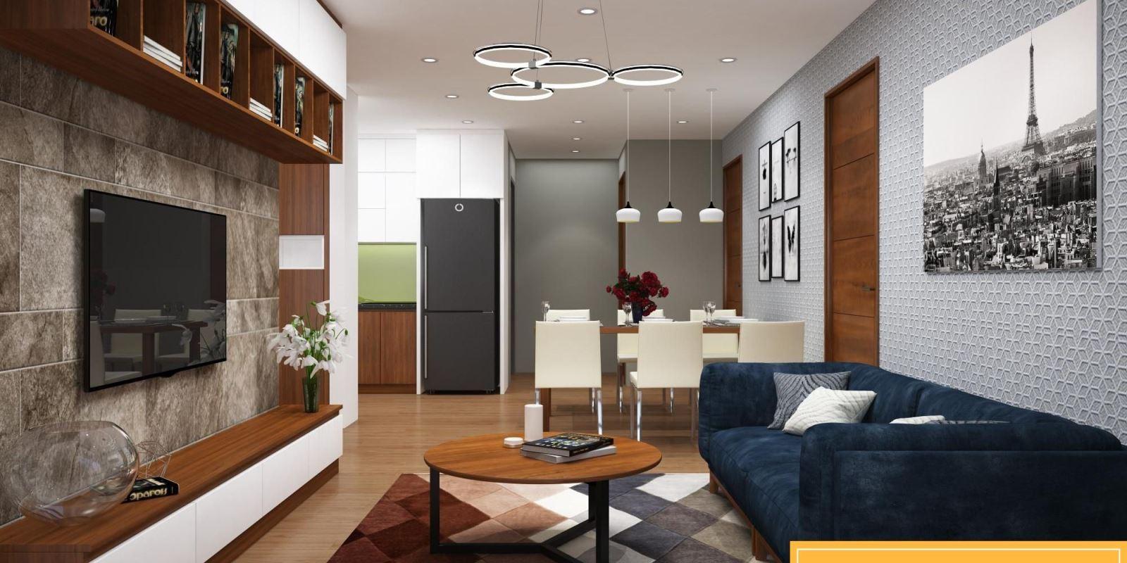 Thiết kế nội thất căn hộ 90m2 6
