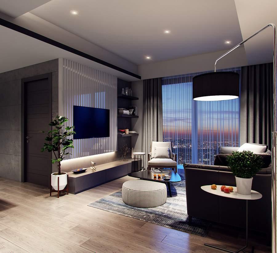 Thiết kế nội thất chung cư 65m2 2