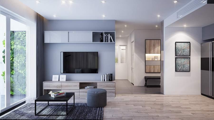 Thiết kế nội thất chung cư 90m2 1