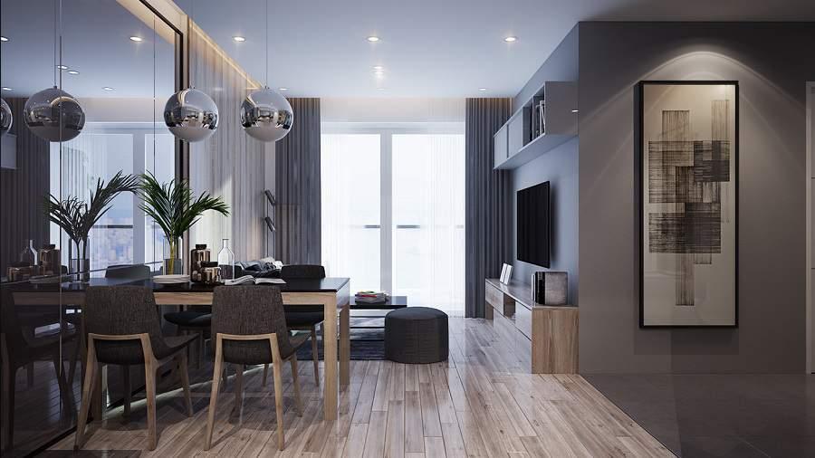 Thiết kế nội thất chung cư 90m2 2