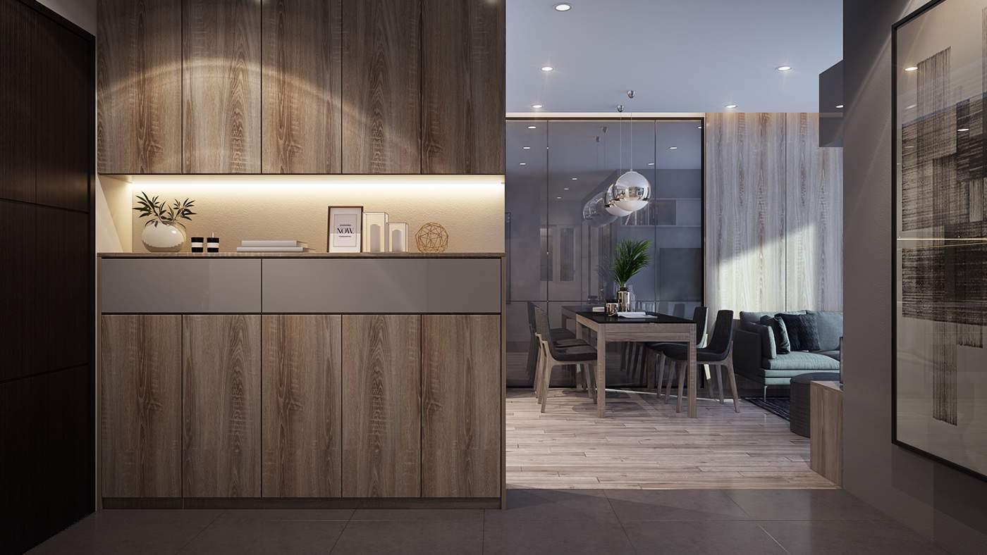 Thiết kế nội thất chung cư 90m2 3
