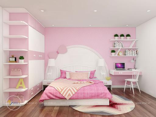 Trang trí phòng ngủcho bé gái