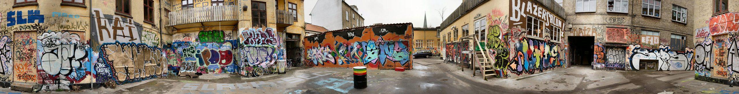 Vẽ tranh graffiti pử Đan Mạch