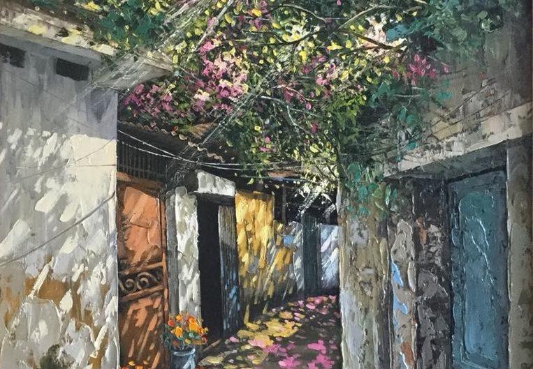 Vẽ tranh tường bằng sơn dầu