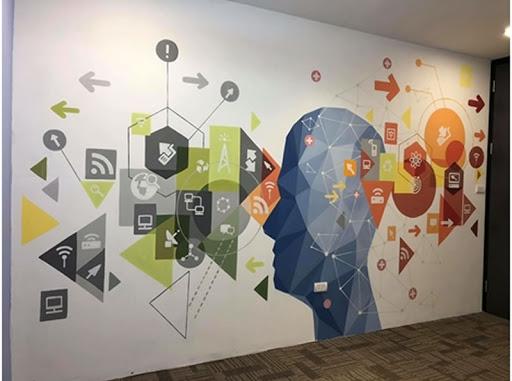 Vẽ tranh tường công ty ở HCM
