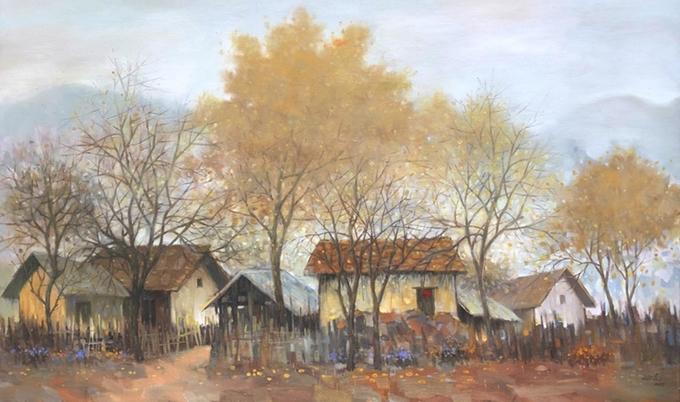 Bức tranh sơn dầu của Họa Sĩ Nguyễn Văn Đức