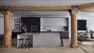 Kết hợp Gỗ và Đá Cẩm Thạch trong thiết kế kiến trúc nội thất