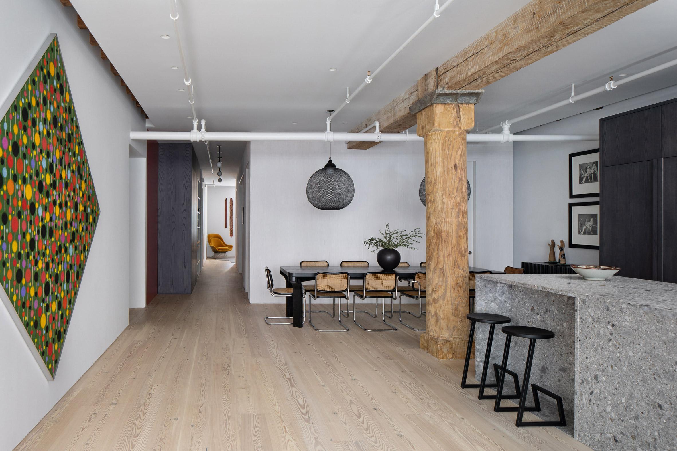 Kết hợp Gỗ và Đá Cẩm Thạch trong thiết kế kiến trúc nội thất 1