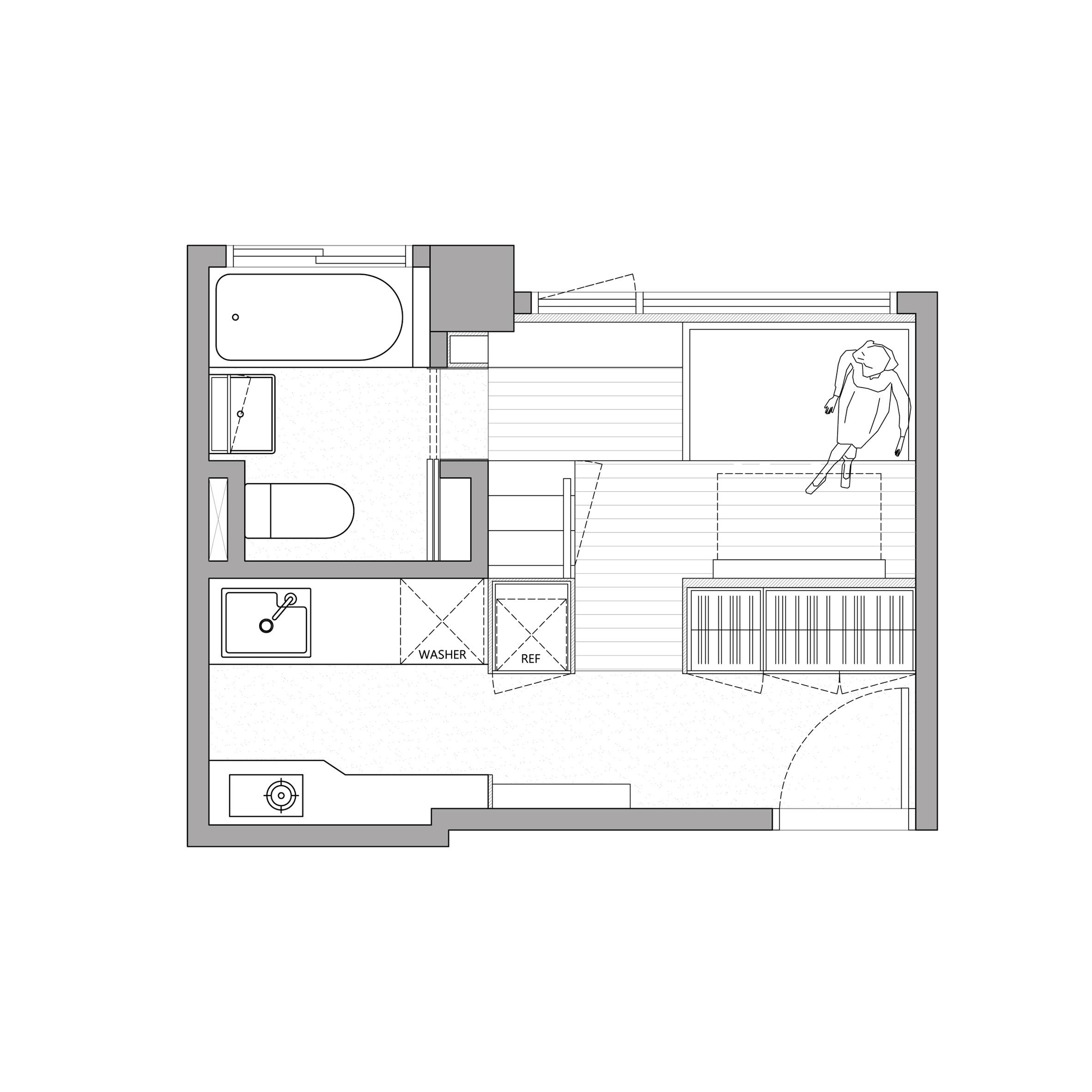 Thiết kế nội thất căn hộ 50m2 9