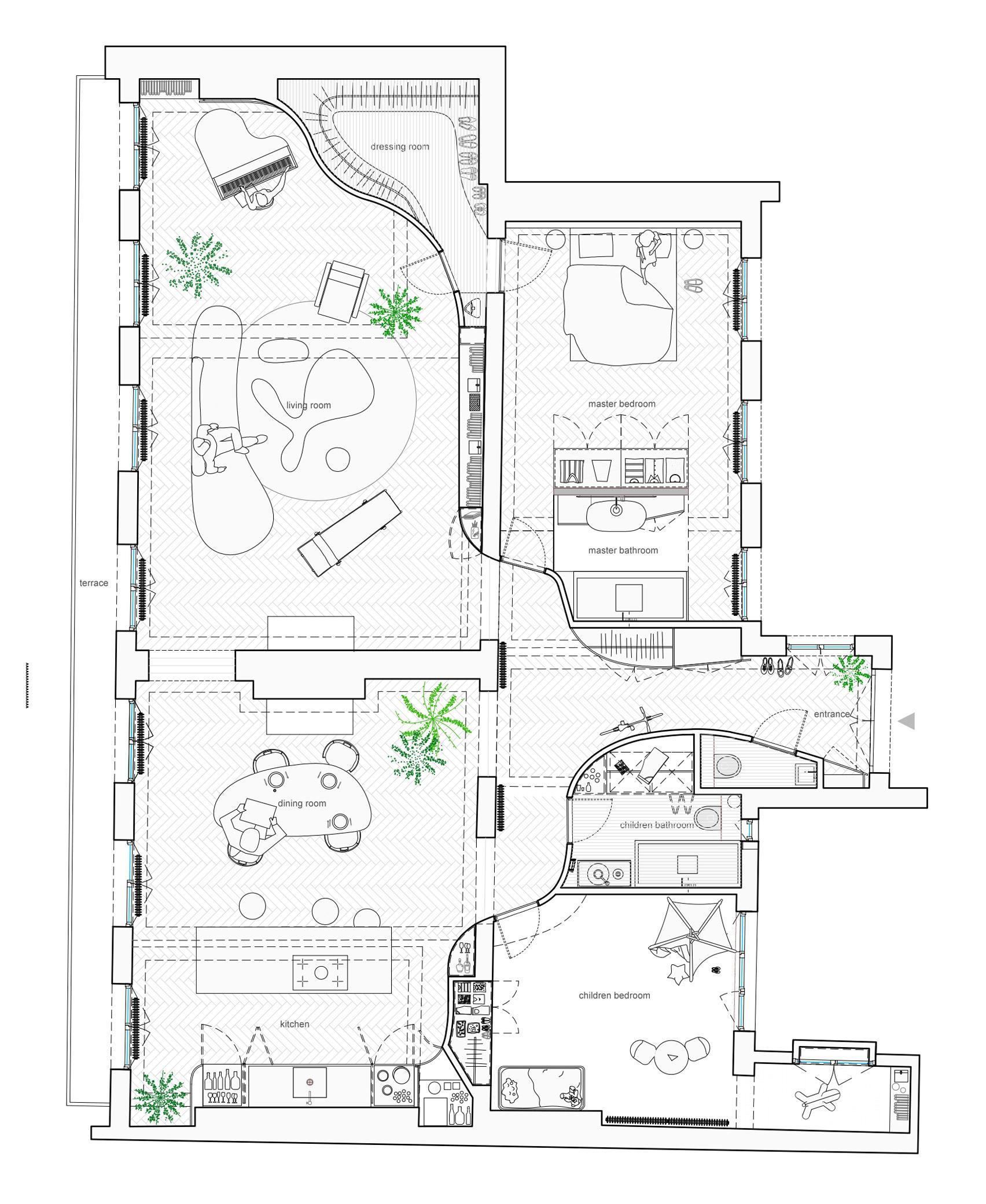 Thiết kế nội thất căn hộ 90m2 9